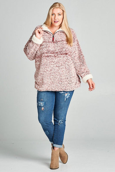 ⭐️BEST SELLER⭐️Berry Hot Toddy Pullover 🖤 Plus🖤 - Magnolia Lace Boutique