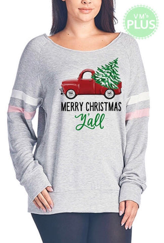 Merry Christmas Y'all Plus Tunic *CLEARANCE - Magnolia Lace Boutique