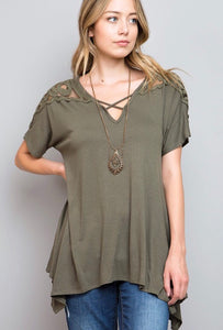 Olive Cross Top Tunic