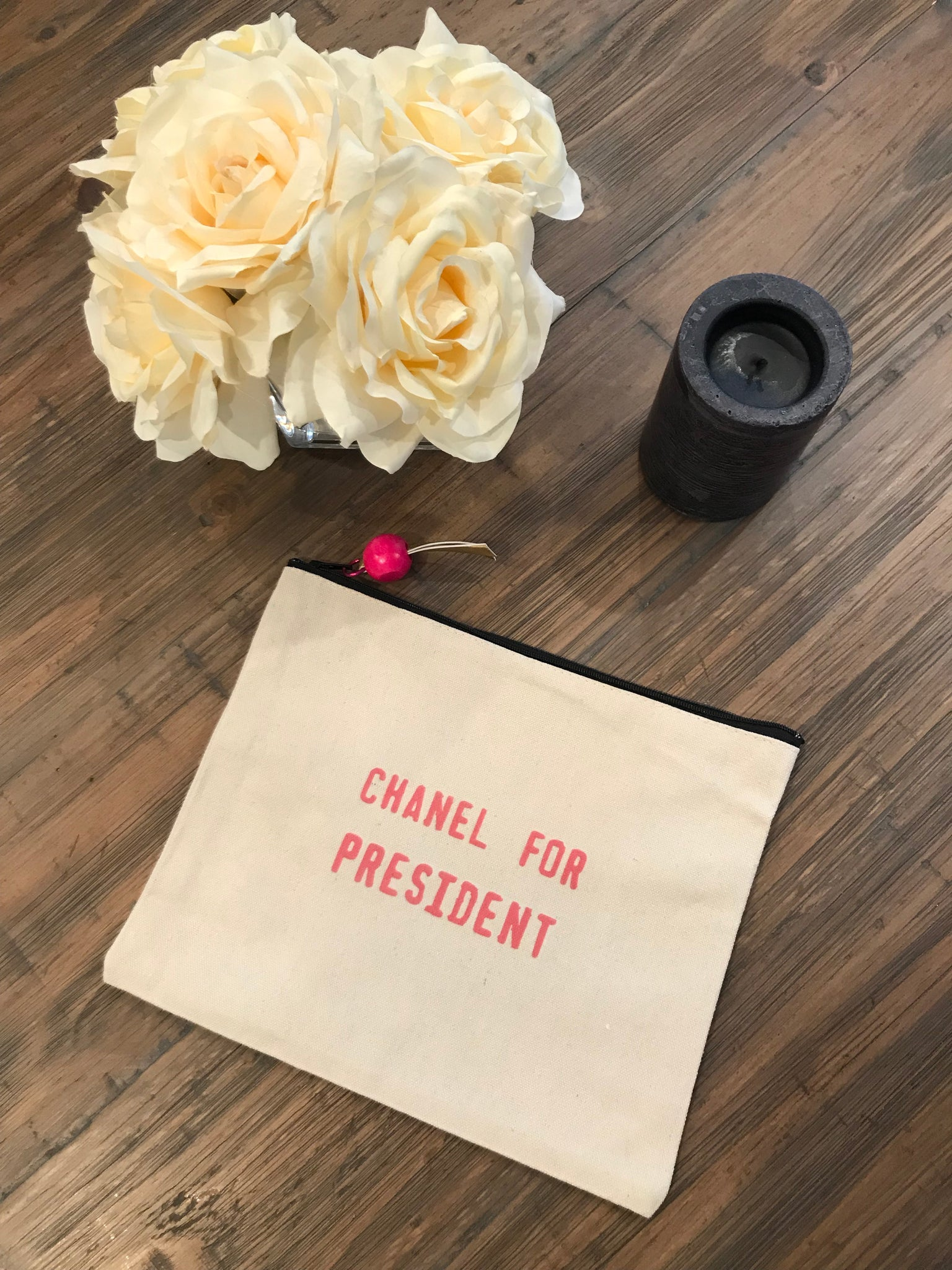 Chanel for President Canvas Pouch