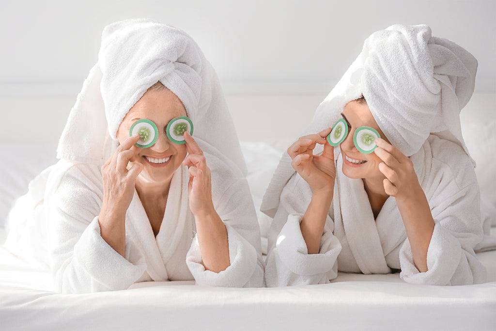 Mom's Best Advice - Mom and Daughter doing facials