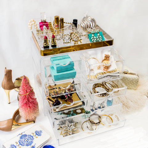 Jewelry Fashion Accessory Storage Clear Cosmetic Case