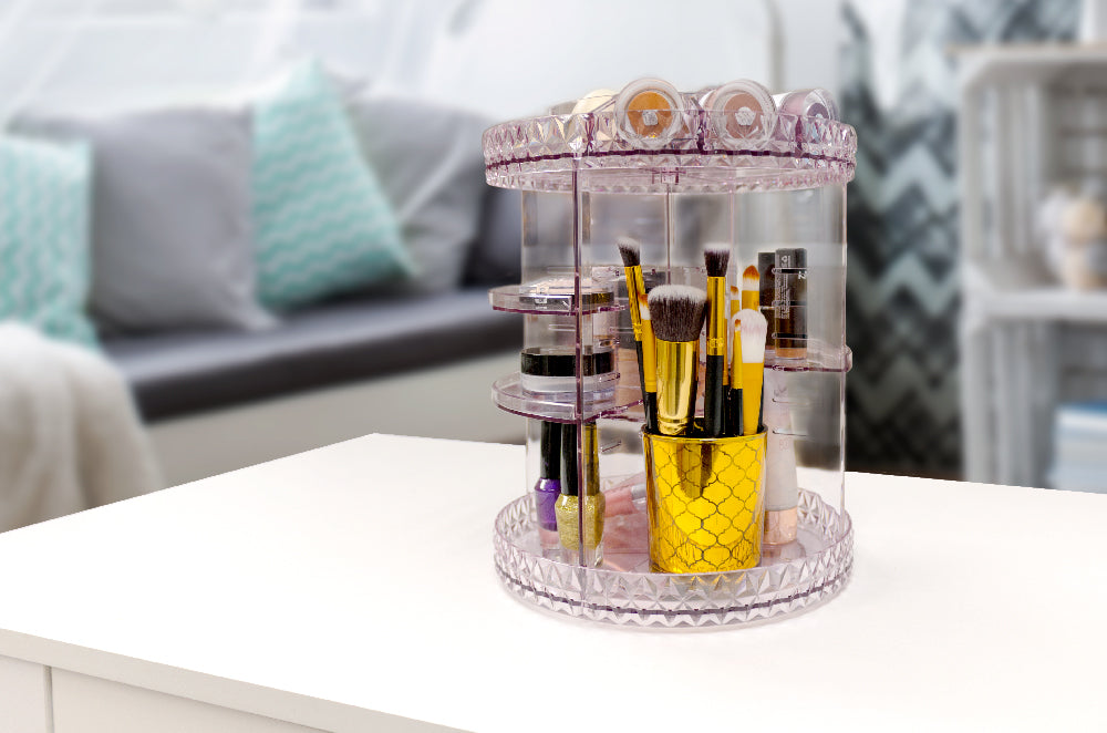 Sorbus Beauty lazy-Susan carousel cosmetic organizer