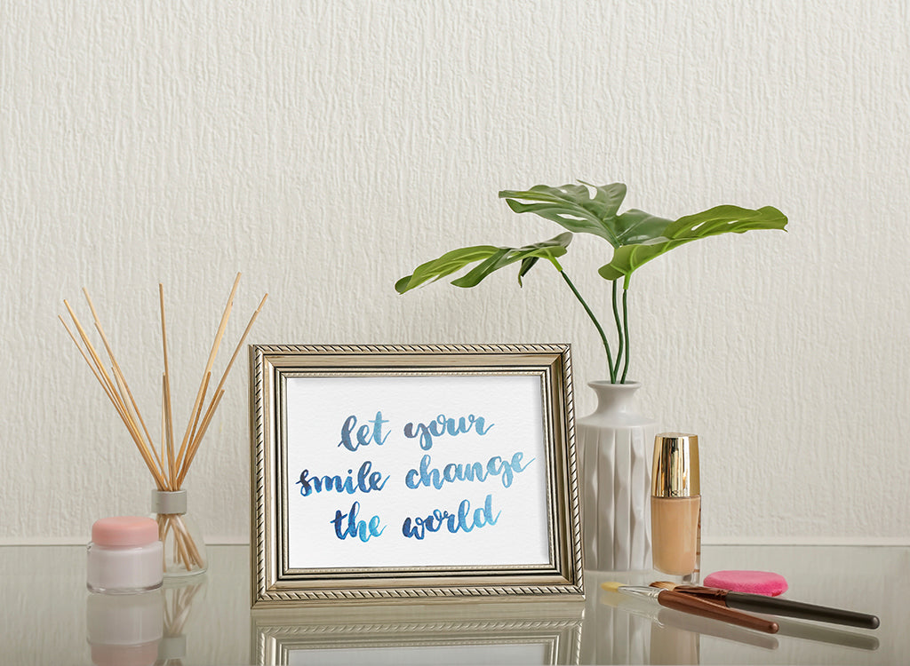 let your smile change the world, framed quote