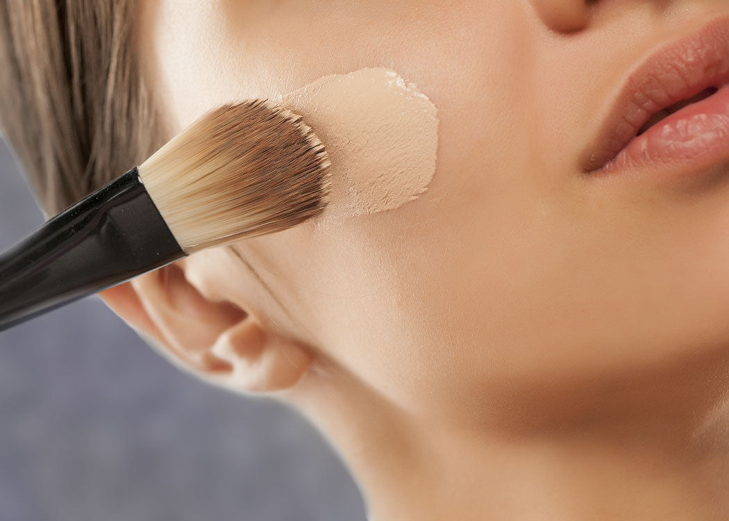 Foundation application with a brush