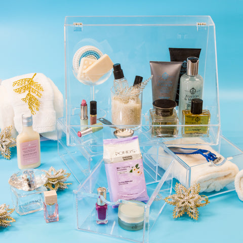 Cosmetic Display Case for Him and Her Bathroom Products