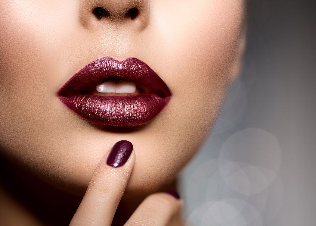 Beautiful plum color lips