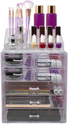 Medium Tie-Dye Makeup Organizer Set - (3 large / 4 small drawers/top tray)
