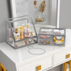 Elegant Slanted Lid Display Case with Drawers