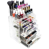 Medium Clear Cosmetic Storage Organizer - (3 large / 4 small drawers) - sorbusbeauty