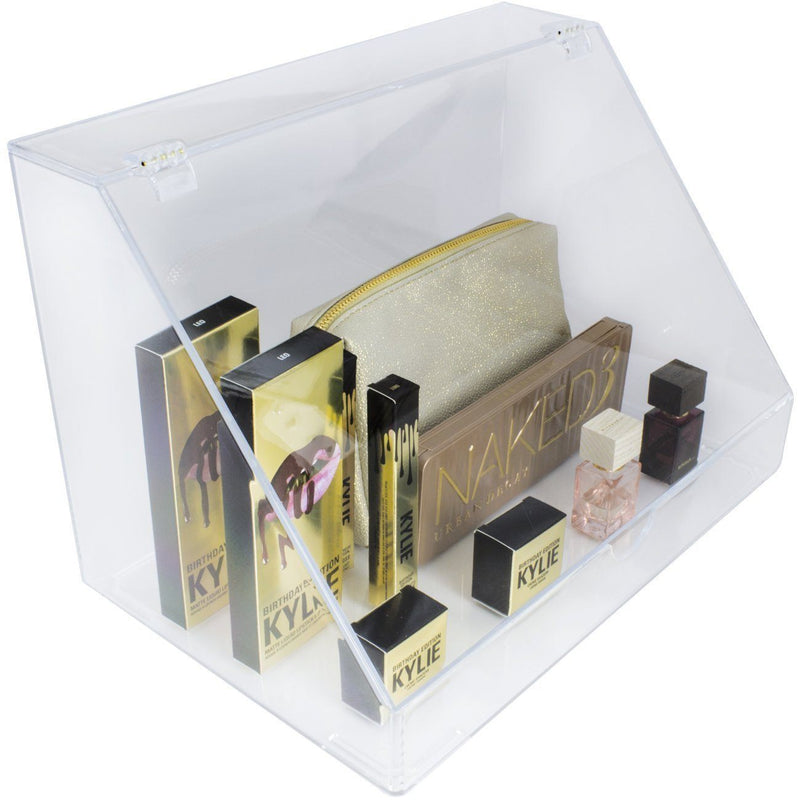 Extra Large Slanted Lid Cosmetic Display Case - sorbusbeauty