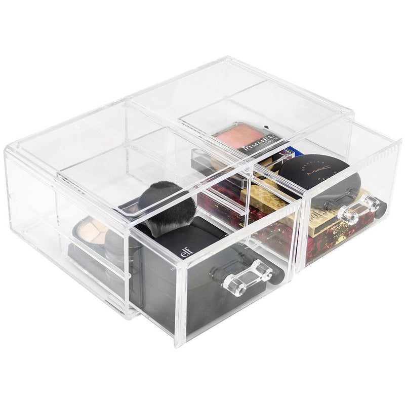 Stackable 2 Column Cosmetic Organizer Drawer - Large - sorbusbeauty