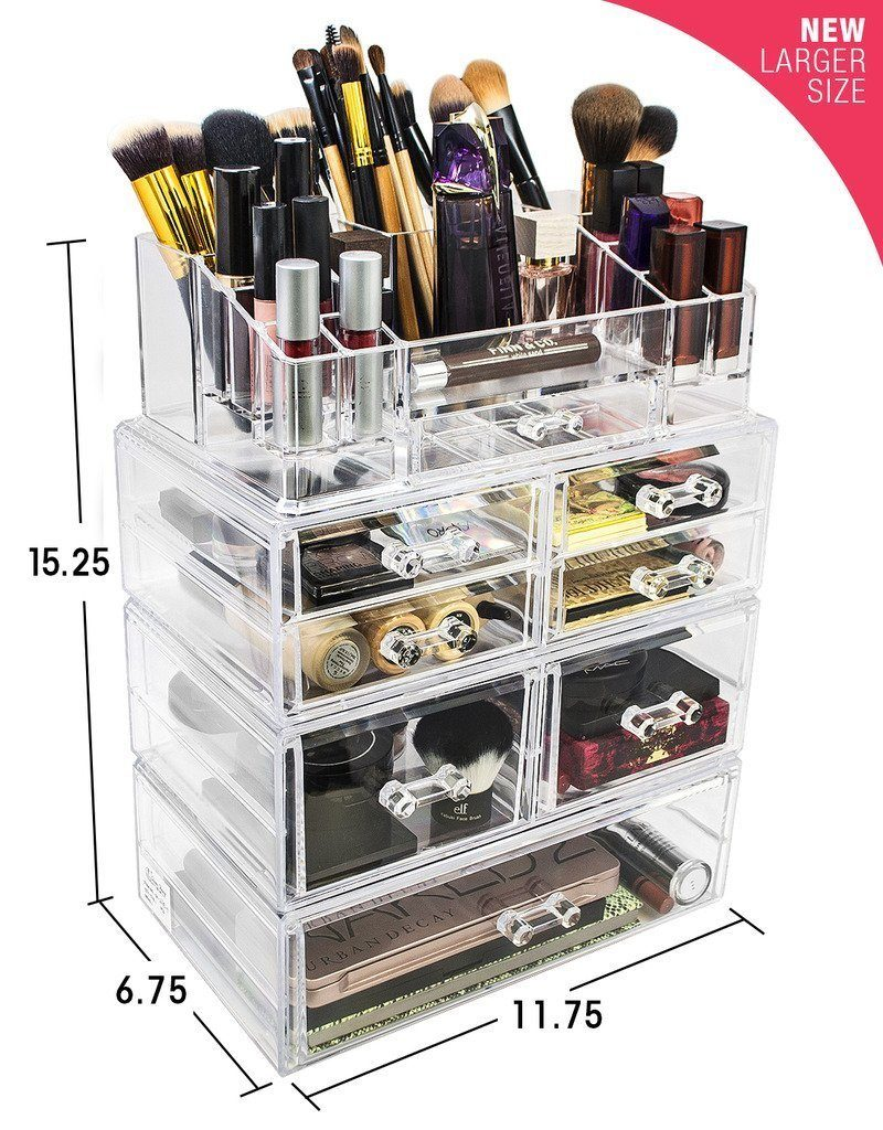 Large Cosmetic Storage Case - 4 Piece Set - sorbusbeauty