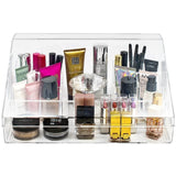 Slanted Lid Cosmetic Display Case with Sections - sorbusbeauty