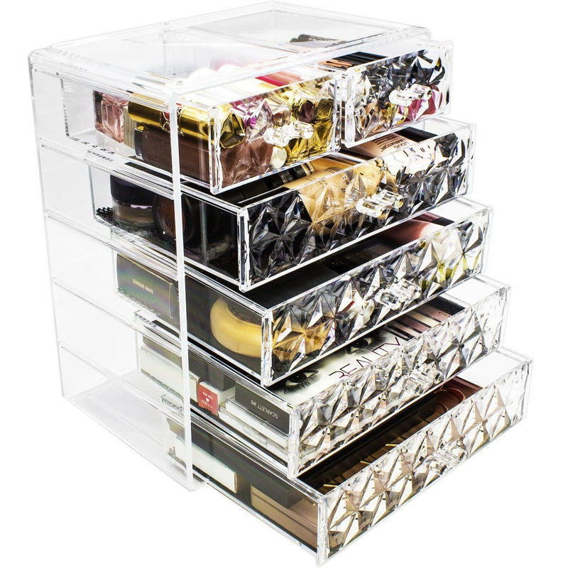 Medium Diamond Style  Cosmetic Storage Organizer - (4 large / 2 small drawers)Cle - sorbusbeauty