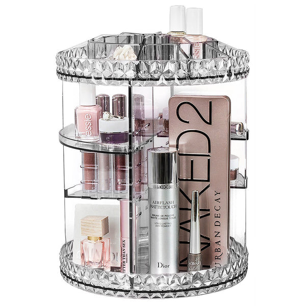 360° Makeup Organizer Carousel - Clear - sorbusbeauty
