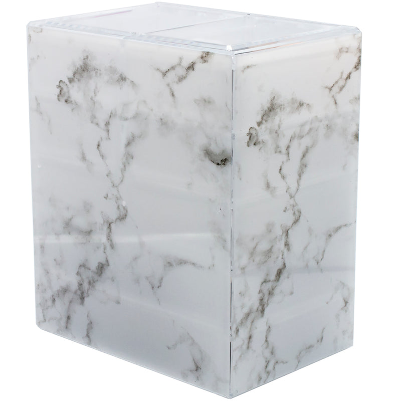Medium Marble Style Cosmetic Storage Organizer - (4 large / 2 small drawers) - sorbusbeauty