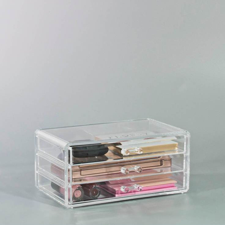 Small Cosmetic Makeup Organizer - 3 Drawers