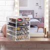 Medium Clear Diamond Makeup Organizer - (4 large / 2 small drawers)