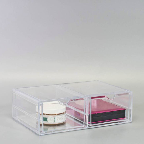 Stackable 2 Column Cosmetic Organizer Drawer (XL)
