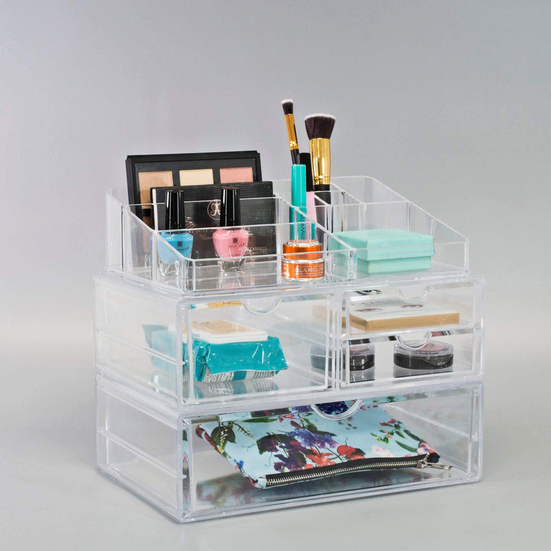 Extra Large Cosmetic Storage Case - 3 Piece Set - sorbusbeauty