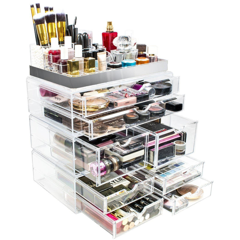 Silver Trim 8 Drawer Set - sorbusbeauty