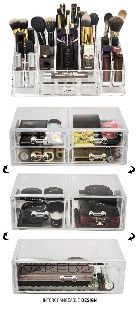Stackable 2 Column Cosmetic Organizer Drawer - Large