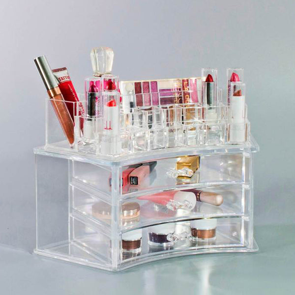 Curved Makeup Organizer Case