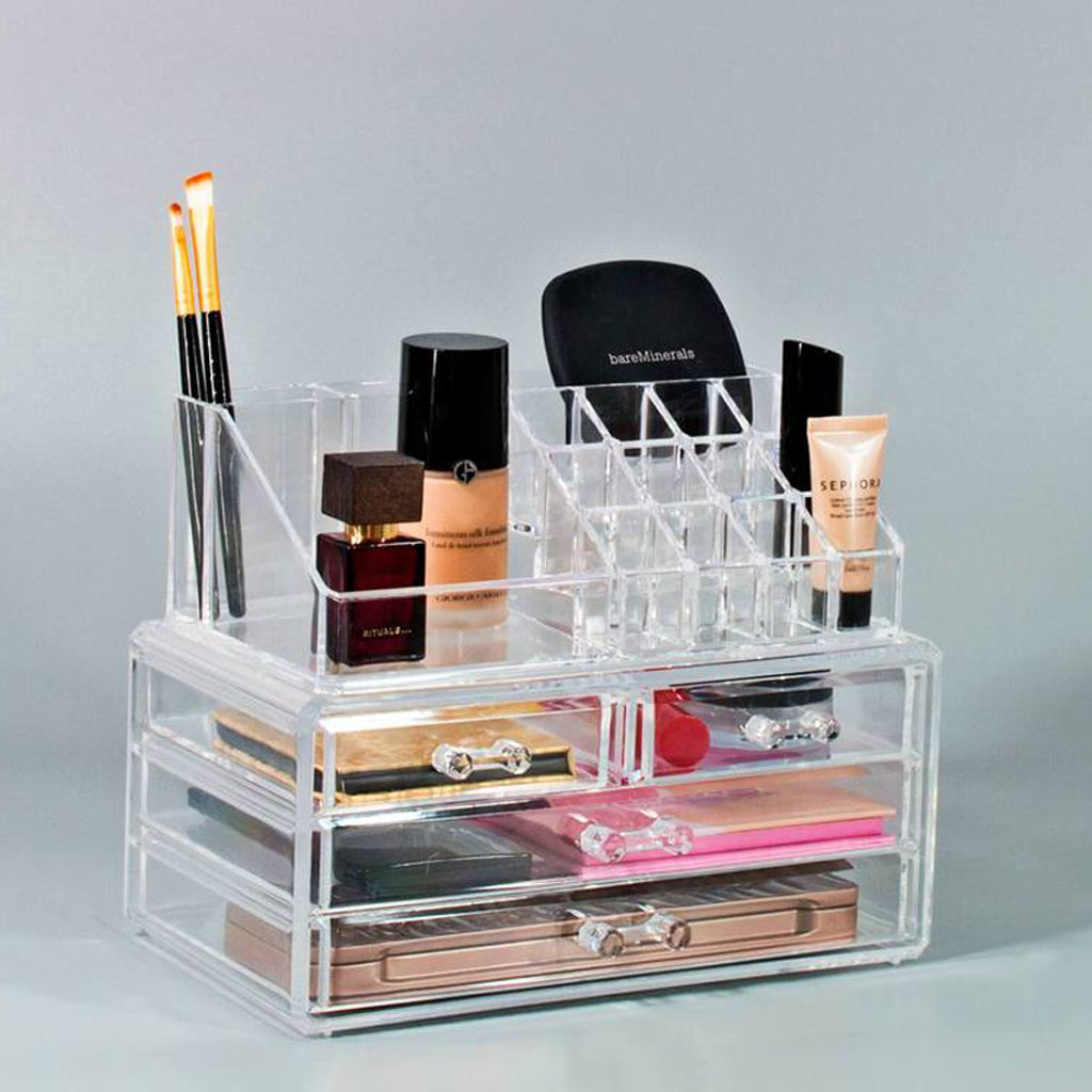 small makeup organizer set - clear