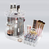 360° Makeup Organizer Carousel Tray Station – Clear