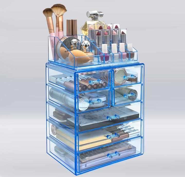Medium Makeup Organizer Set - (3 large / 4 small drawers/top tray)