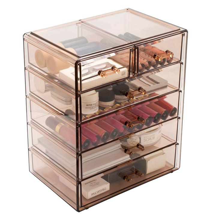 Medium Makeup Organizer - (4 large / 2 small drawers)
