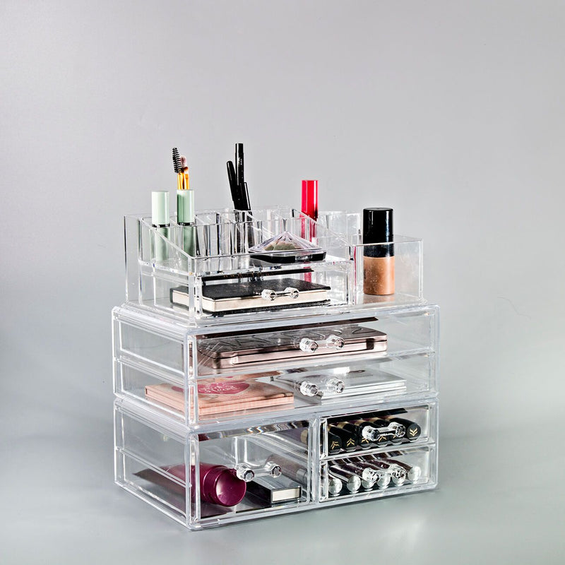 Large Cosmetic Storage Case - 3 Piece Set - sorbusbeauty