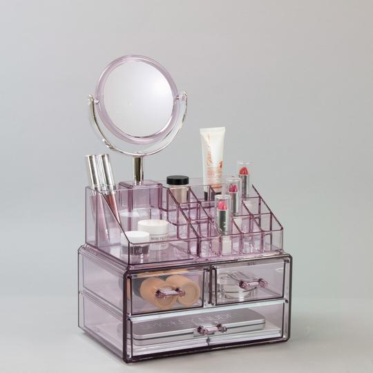 Makeup Organizer with Detachable Mirror
