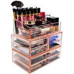 Large Cosmetic Storage Case - 3 Piece Set