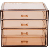 Makeup and Jewelry Storage Case - 4 Drawers - Bronze Glow - sorbusbeauty