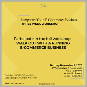 KICKOFF YOUR ECOMMERCE BUSINESS (THREE WEEK WORKSHOP)