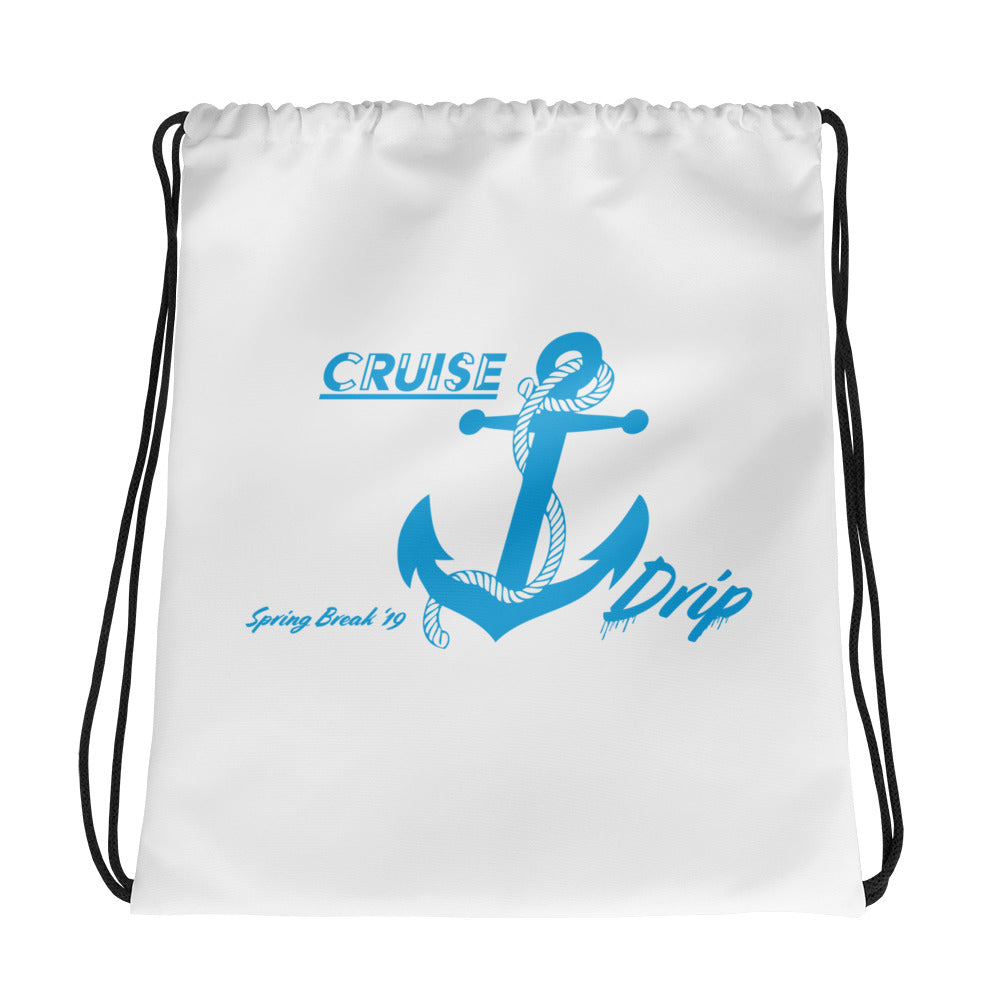 Drawstring bag With Blue Cruise Drip