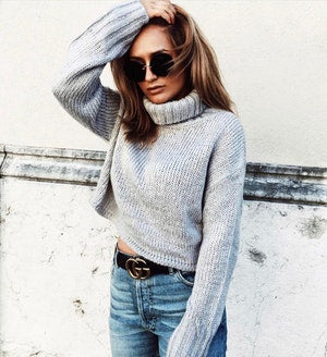 Turtle Crop Sweater