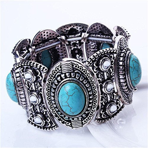 Tibetan Turquoise Bangle