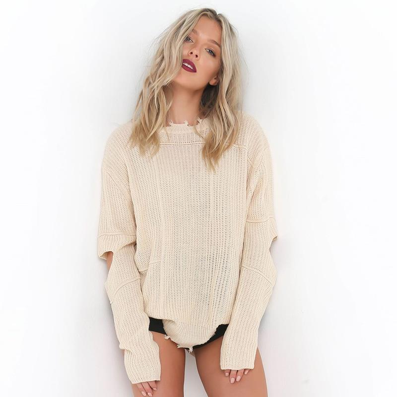Ripped Knitted Sweater