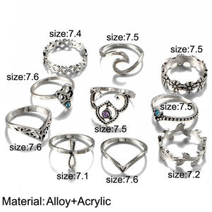 Wave Rider Ring Set