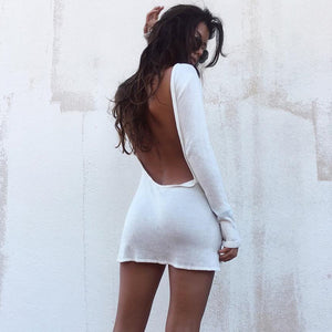 Backless Mini Dress