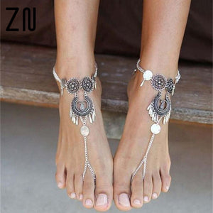 Retro Antique Chain Anklet