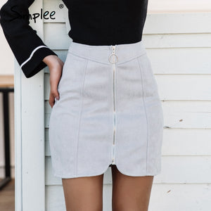 Zip Up Skirt