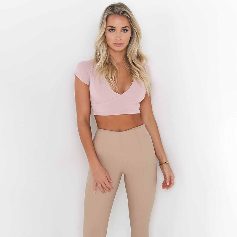 Lace Up Crop Top