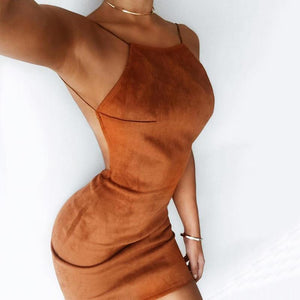 Suede Club Dress