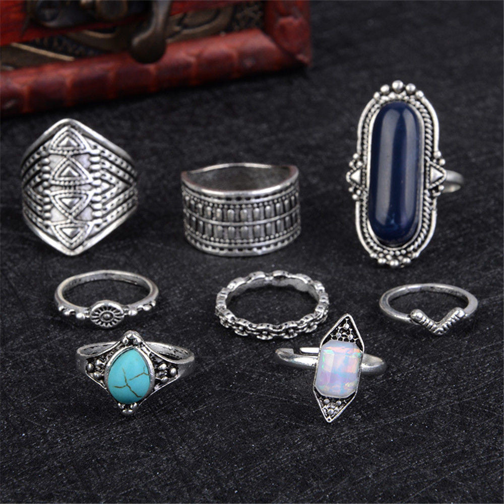 European Retro Ring Set