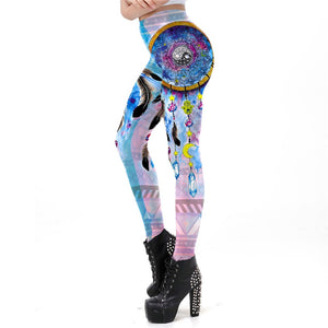 Boho Dreamcatcher Print Leggings