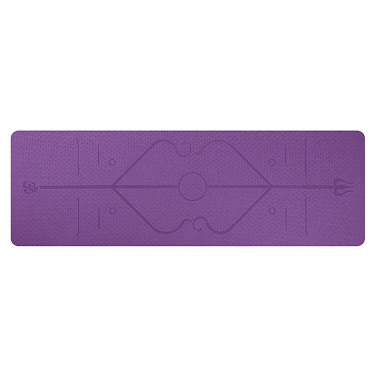 YogaMaster Yoga Mat With Printed Positions Lines